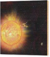 Eruption - Solar Storm Wood Print