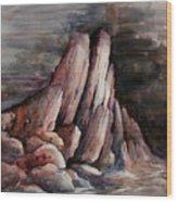 Eruption Wood Print