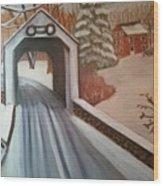 Erwina Covered Bridge, Pa  Wood Print