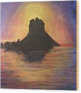 Es Vedra Sunset I Wood Print