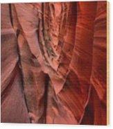 Escalante Red Slot Wood Print