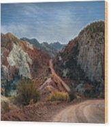 Grand Staircase Escalante Road Wood Print