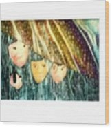 Escape From The Rain Wood Print