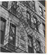 Escape Ladders  Wood Print