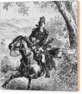 Escape Of Benedict Arnold Wood Print