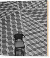 Escher-like Chair Wood Print