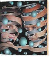 Escher Remastered II Wood Print