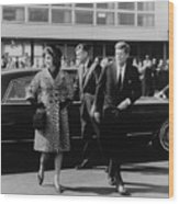 Escorted By President Kennedy Wood Print by Everett