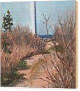 Escuminac Lighthouse Wood Print