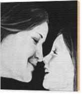 Eskimo Kisses Wood Print by Corina Bishop