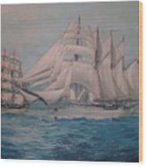 Esmerelda And The Sagres Tall Ships Wood Print