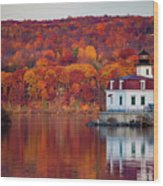Esopus Lighthouse In Late Fall #1 Wood Print