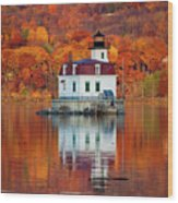 Esopus Lighthouse In Late Fall #3 Wood Print