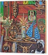 Espiritualidad Africana Wood Print