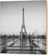 Esplanade Du Trocadero Wood Print