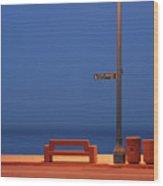 Esplanade Wood Print