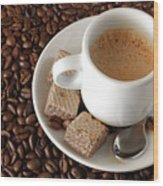 Espresso Coffee Wood Print by Carlos Caetano