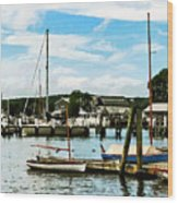 Essex Ct Marina Wood Print