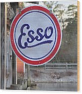 Esso Sign  Wood Print