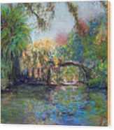 Estero River At Koreshan Wood Print