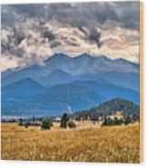 Estes Park From Glen Haven 3 Wood Print
