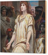 Esther Before Ahasuerus Wood Print