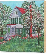 Esther's Home Wood Print