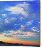 Estuary Skyscape Wood Print