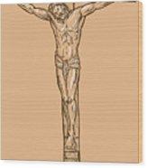 esus Christ hanging on the cross Wood Print by Aloysius Patrimonio