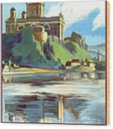 Esztergom, Beautiful City On Danube River, Hungary,  Wood Print