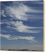 Ethereal Clouds Wood Print