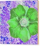 Ethereal Purple Poppy Too Wood Print