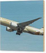 Ethiad Cargo Boeing B777 Wood Print