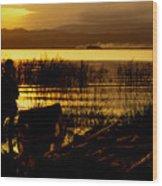 Ethiopia Catching Live-bait At Sundown On Lake Chamo Wood Print