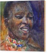 Ethnic Woman Portrait Wood Print