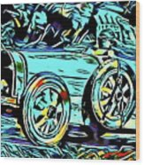 Ettore's Dream Cars Wood Print