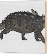 Euoplocephalus Dinosaur Wood Print