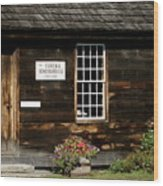 Eureka Schoolhouse Wood Print