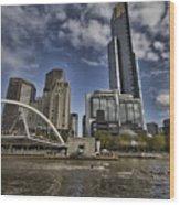 Eureka Tower-view From Cityside Wood Print