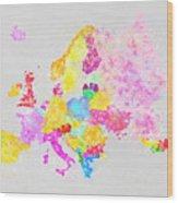 Europe Map Wood Print by Setsiri Silapasuwanchai