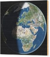 Europe, Satellite Image Wood Print by Planetobserver