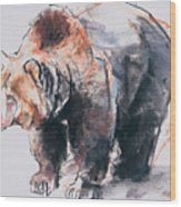 European Brown Bear Wood Print