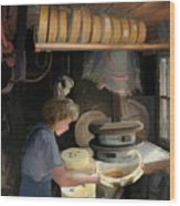 European Cheesemaker Wood Print