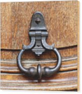 European Door Knocker Wood Print