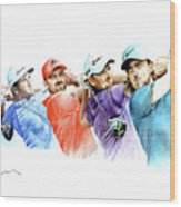 European Golf Champions Race 2017 Wood Print
