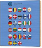 European Union Wood Print
