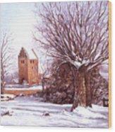 European Winter Scene Wood Print