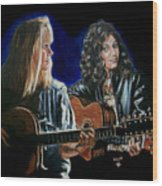 Eva Cassidy And Katie Melua Wood Print