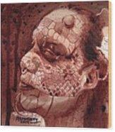 Eva Medusa - Lizard Woman Wood Print