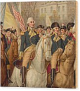 Evacuation Day And Washington's Triumphal Entry In New York City Wood Print